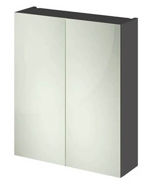 Alternate image of Hudson Reed Fusion 600mm Double Door 50-50 Compact Mirror Cabinet