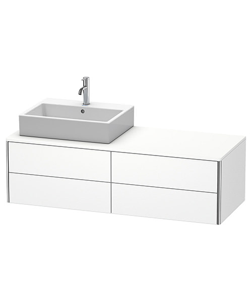 Duravit XSquare 1400mm Wall-Mounted Vanity Unit With 4 Drawers For Basin Left