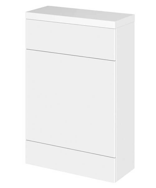Hudson Reed Fusion 500 x 255mm Slimline WC Unit And Polymarble Worktop