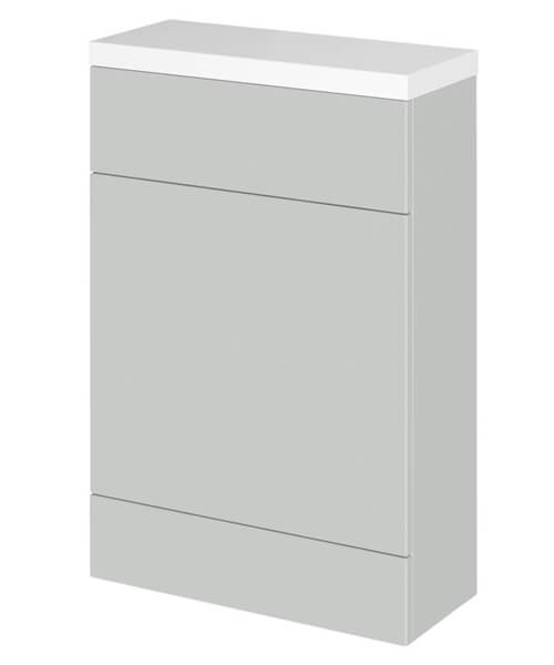 Alternate image of Hudson Reed Fusion 600 x 255mm Slimline WC Unit And Polymarble Worktop