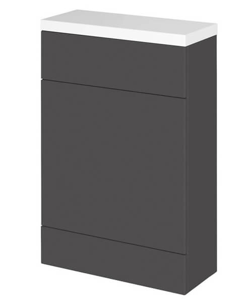 Alternate image of Hudson Reed Fusion 500 x 255mm Slimline WC Unit And Polymarble Worktop