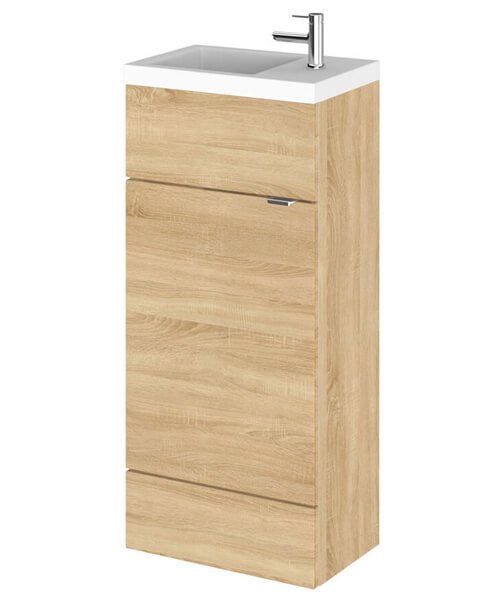 Additional image of Hudson Reed Fusion 400mm Floorstanding Slimline Vanity Unit And Basin
