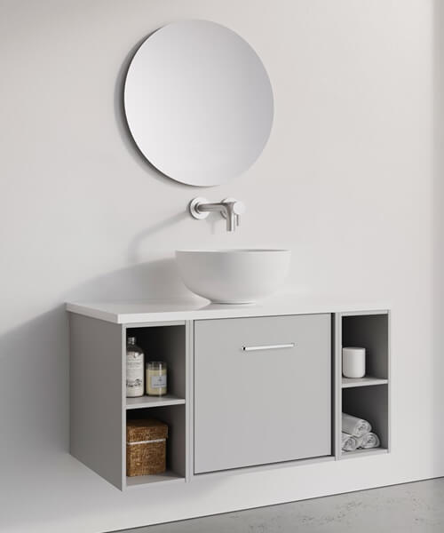 Additional image of Crosswater Infinity 500mm Wide Wall Mounted Vanity Unit With Double Base Unit