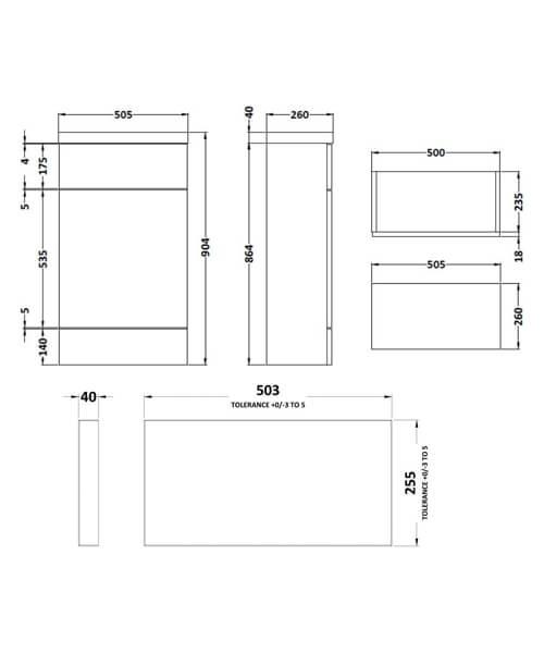 Technical drawing 61781 / CBI104