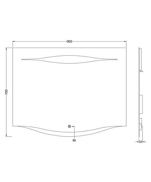 Technical drawing 44753 / LQ071