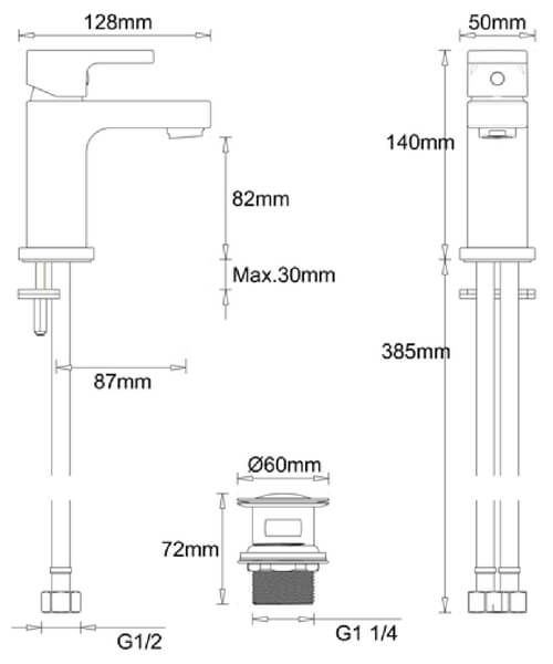 Technical drawing 62240 / MBPS114P+