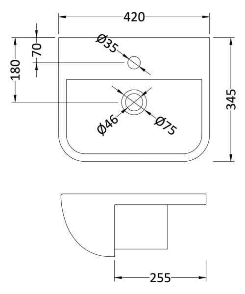 Technical drawing 53991 / SRB004