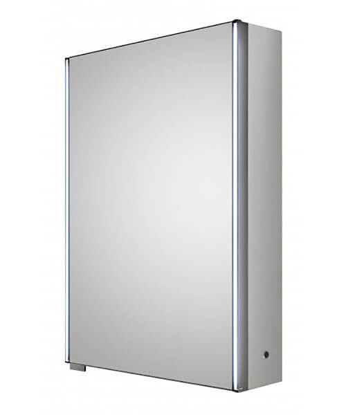 Hudson Reed Meloso 500 x 700mm Silver Single Door Mirror Cabinet