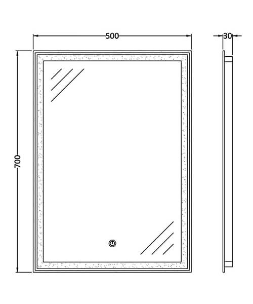 Technical drawing 64005 / LQ085