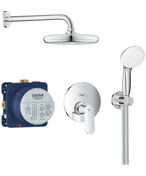 Grohe Eurosmart Cosmopolitan Chrome Perfect Shower Set With Tempesta 210