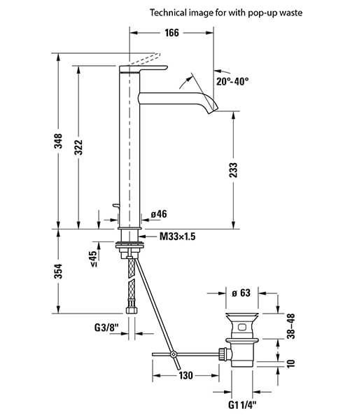 Technical drawing 34883 / C11010002010