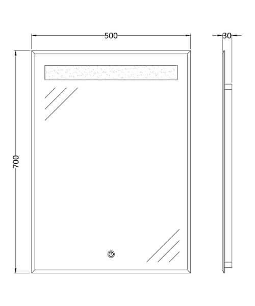Technical drawing 61789 / LQ086