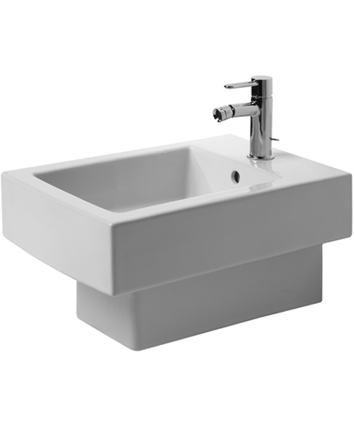 Duravit Vero 370 x 540mm 1 Tap Hole Wall Mounted Bidet