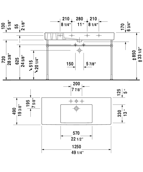 Technical drawing 6954 / 0329850060