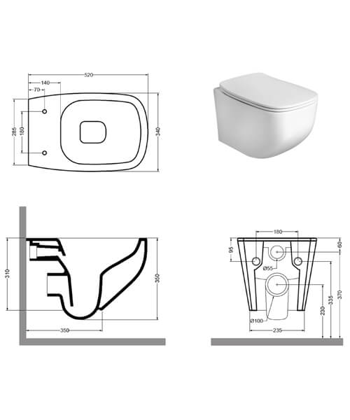 Technical drawing 62078 / IF6116CW