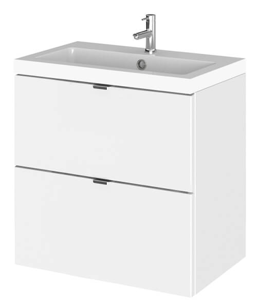 Hudson Reed Fusion 500 x 360mm Wall Hung  Drawer Vanity Unit And Basin