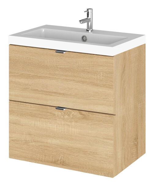 Additional image of Hudson Reed Fusion 500 x 360mm Wall Hung  Drawer Vanity Unit And Basin