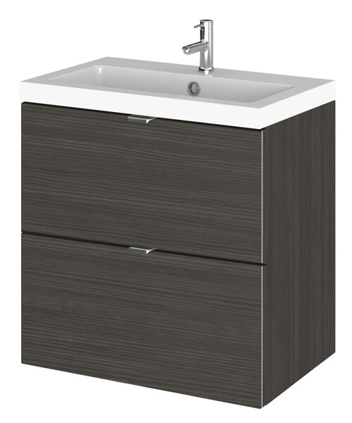 Alternate image of Hudson Reed Fusion 500 x 360mm Wall Hung  Drawer Vanity Unit And Basin