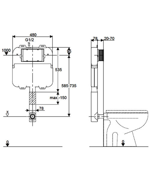 Technical drawing 62262 / WCC57X46+