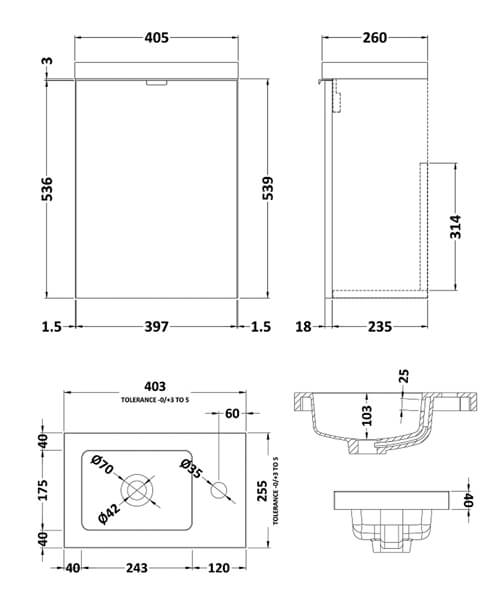 Technical drawing 53874 / CBI337