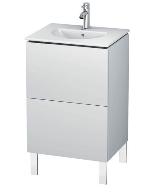 Duravit L-Cube Floor Standing 2 Drawer Vanity Unit For Darling New Basin