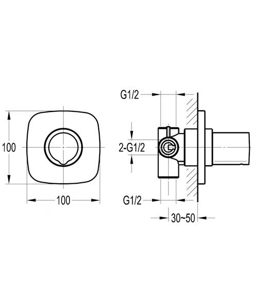 Technical drawing 60320 / AL4WDIV
