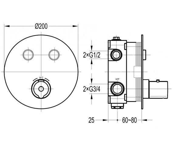 Technical drawing 60322 / ALTGO2TRIM