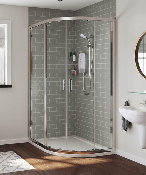 Alternate image of Mira Meta White-Chrome Electric Shower