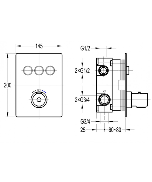 Technical drawing 60324 / ANTGO3TRIM
