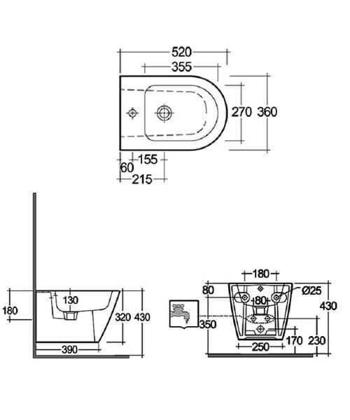 Technical drawing 41817 / RSTWHBID-HF