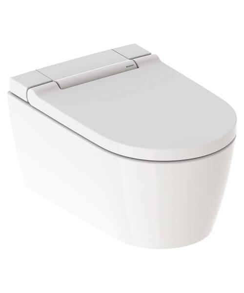 Geberit AquaClean Sela 375 x 565mm Wall Hung WC Pan And White Alpine Seat