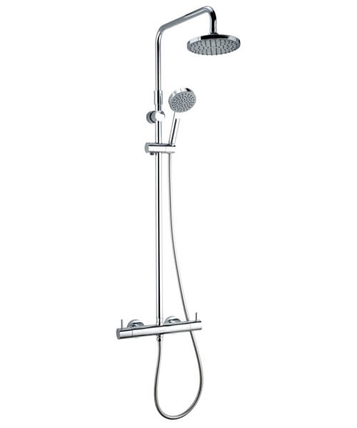 Deva Vision Cool Touch Thermostatic Bar Shower With Diverter And Adjustable Rail
