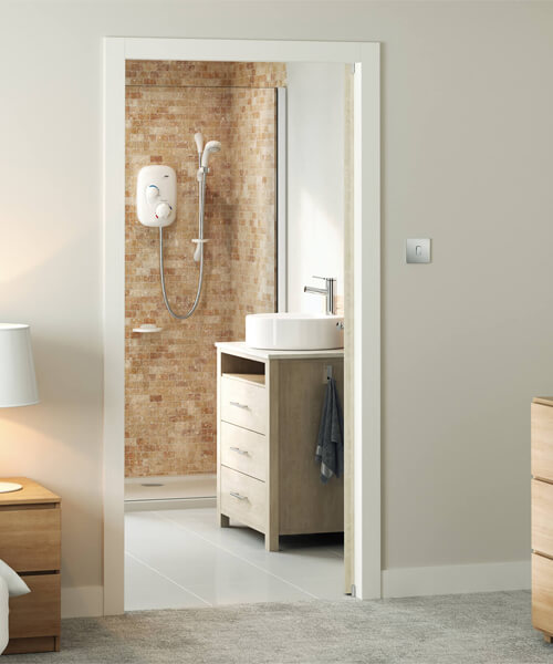 Additional image of Mira Event XS Thermostatic Power Shower White And Chrome