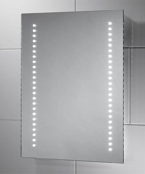 Sensio Isla Battery Powered LED Mirror - 390 x 500mm