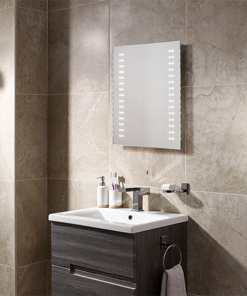 Additional image of Sensio Tula Slimline 390 x 500mm Diode LED Mirror