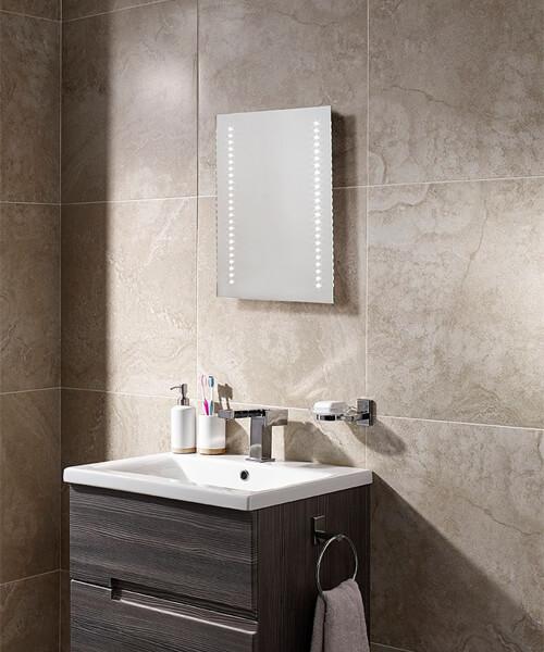 Additional image of Sensio Ester 390 x 500mm Slimline LED Mirror