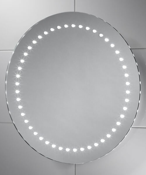 Sensio Orla 500mm Wide Round LED Mirror