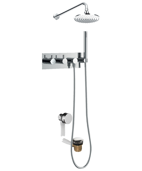 Flova Levo Thermostatic Horizontal 3 Outlet Concealed Shower Pack