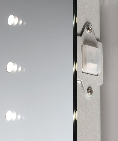 Additional image of Sensio Nyla 500 x 600mm Illuminated LED Mirror With Integrated Glass Shelf
