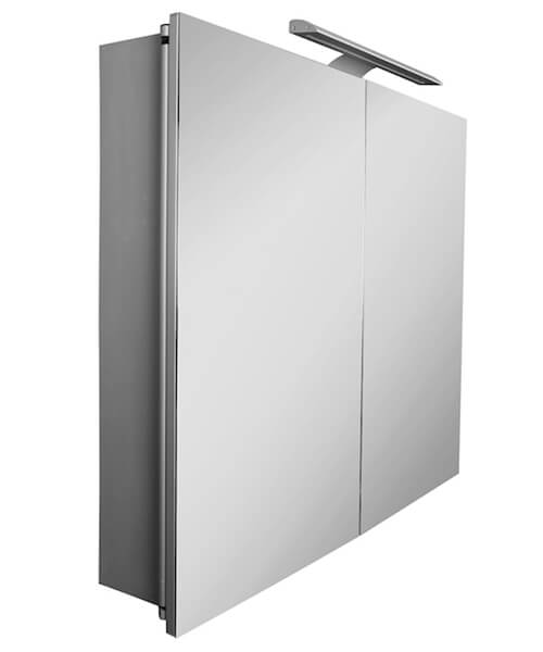 Additional image of Roca Sol 600mm Double-Door Mirror Cabinet With LED Lighting
