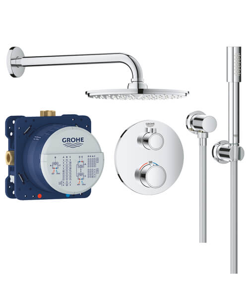 Grohe Grohtherm Perfect Shower Set With Rain Shower Cosmopolitan 210