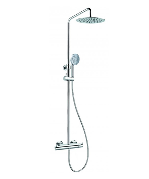Flova Levo Thermostatic Exposed Shower Set With Hand Shower Set