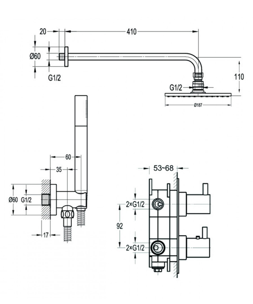 Technical drawing 60375 / SMARTPACK1
