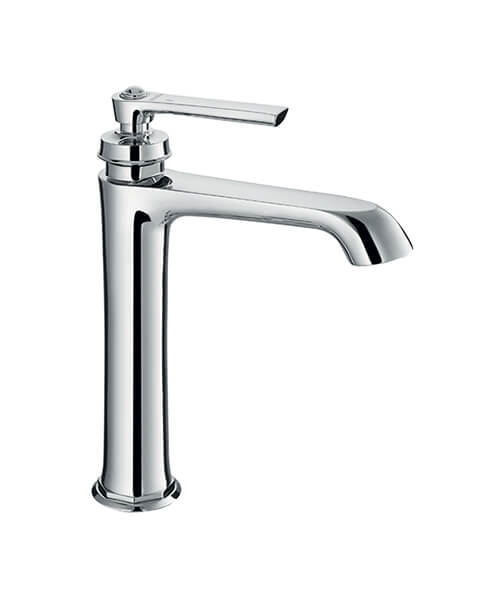 Flova Liberty Tall Basin Mixer Tap With Clicker Waste