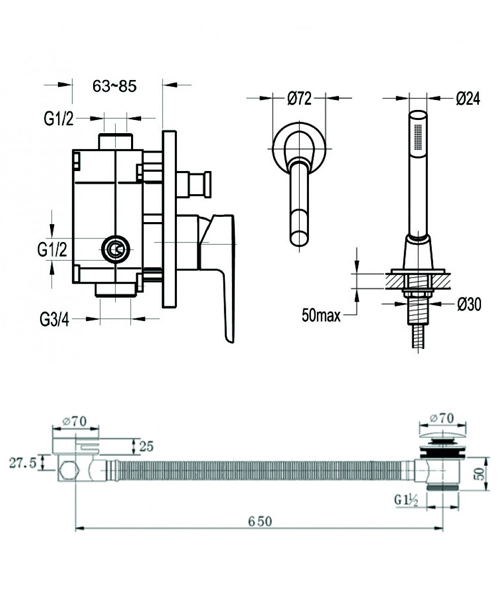 Technical drawing 60377 / SMARTPACK2