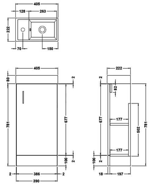 Technical drawing 61058 / EF122W
