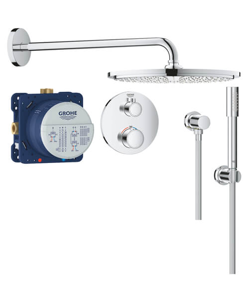 Grohe Grohtherm Perfect Shower Set With Rain Shower Cosmopolitan 160