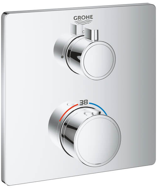 Grohe Grohtherm Thermostatic Mixer For 1 Outlets With Shut Off Valve
