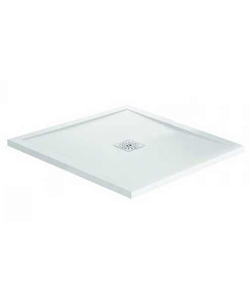 April Waifer Gloss White Square Shower Tray