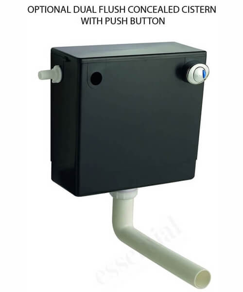 Additional image of Essential Vermont 550 x 800mm Dark Grey WC Unit